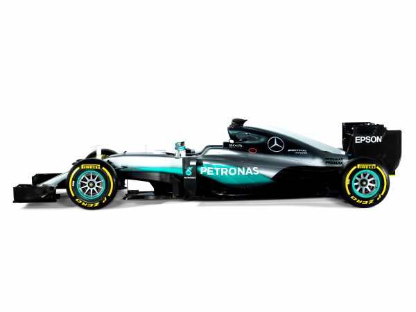 Mercedes F1 W07 Hybrid Studio Images. Friday 19 February 2016. Photo: Mercedes-Benz F1 (Copyright Free FOR EDITORIAL USE ONLY) ref: Digital Image F1_W07_Hybrid_03