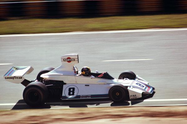 1975 Brazilian Grand Prix  Interlagos, Sao Paulo, Brazil. 24-26th January 1975.  Carlos Pace, Brabham BT44B Ford, 1st position.  Ref: 75BRA05. World copyright: LAT Photographic