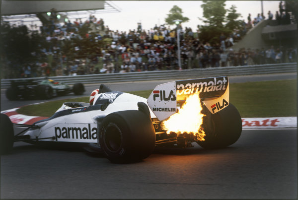 1983 Canadian Grand Prix. Montreal, Canada. 10th - 12th June 1983. Nelson Piquet (Brabham BT52-BMW), retired, action.  World Copyright: LAT Photographic.