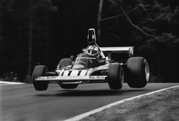 Nurburgring, Germany. 2nd - 4th August 1974. Clay Regazzoni (Ferrari 312B3), 1st position, action. World Copyright: LAT Photographic.Ref:  6639 - 20A.