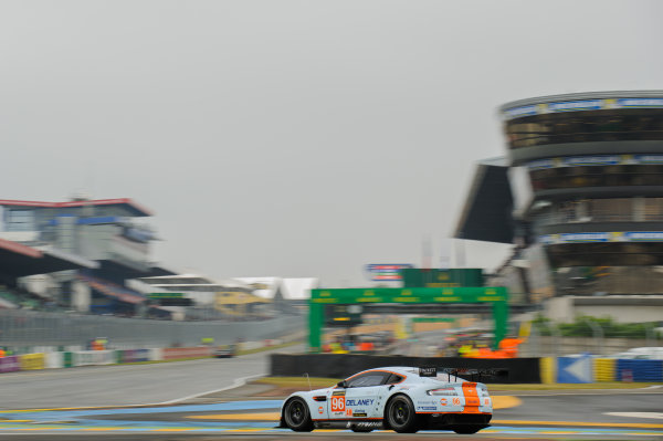 9th June, 2013, Le Mans, France Aston Martin Racing: Jamie Campbell-Walter, Roald Goethe, Stuart Hall.(c) 2013, Camden Thrasher LAT Photo USA