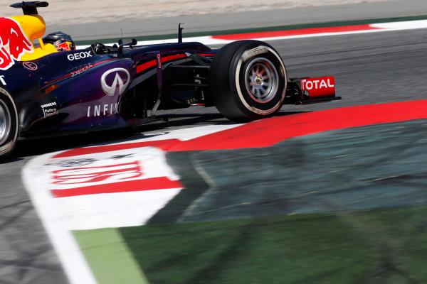 Circuit de Catalunya, Barcelona, Spain 12th May 2013 Sebastian Vettel, Red Bull RB9 Renault.  World Copyright: Glenn Dunbar/LAT Photographic ref: Digital Image _89P6239