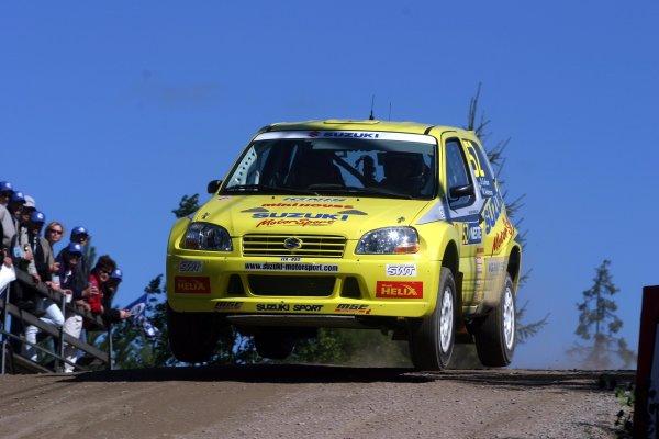 2003 FIA World Rally Champs. Round nine, Neste Rally Finland. Rally7th-10th August 2003.Daniel Carlsson, Suzuki 1600, action.World Copyright: McKlein/LAT