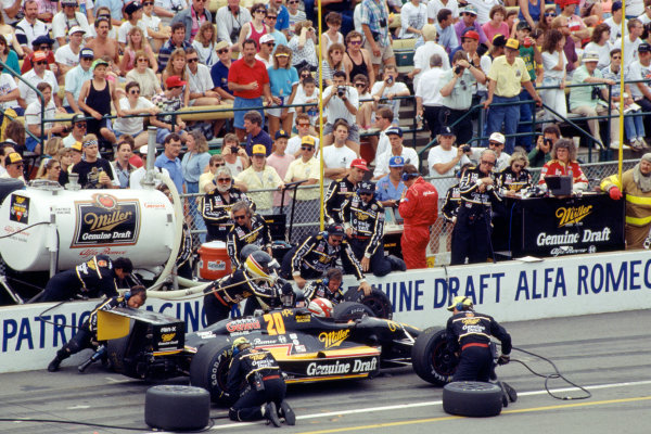 1991 Indianapolis 500.Indianapolis Motor Speedway, Indianapolis, Indiana. 26th May 1991.Danny Sullivan (Lola T91/00-Alfa Romeo), 10th position.World Copyright: Murenbeeld/LAT Photographic