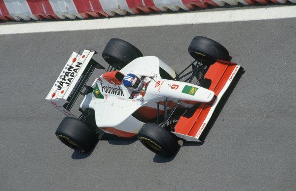 Catalunya, Barcelona, Spain. 7th - 9th May 1993.Derek Warwick (Footwork FA14-Mugen Honda), 13th position, action. World Copyright: LAT Photographic.Ref:  93ESP