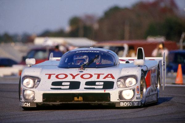 Daytona 24 hours, Florida, USA. 1st - 2nd February 1992.Juan-Manuel Fangio II/Andy Wallace/Kenny Acheson (Eagle MkIII Toyota), 11th position, action. World Copyright: LAT PhotographicRef: 92IMSADAY07