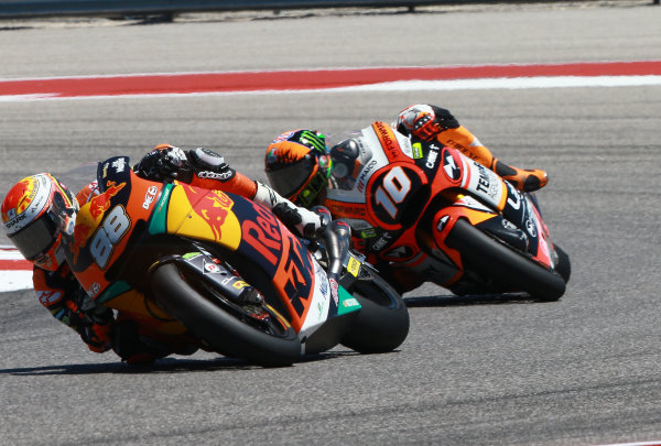 2017 Moto2 Championship - Round 3 Circuit of the Americas, Austin, Texas, USA Sunday 23 April 2017 Ricard Cardus, Red Bull KTM Ajo, Luca Marini, Forward Racing World Copyright: Gold and Goose Photography/LAT Images ref: Digital Image Moto2-R-500-2895