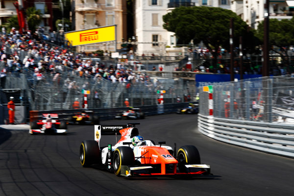 2017 FIA Formula 2 Round 3. Monte Carlo, Monaco. Saturday 27 May 2017. Sergio Sette Camara (BRA, MP Motorsport)  Photo: Zak Mauger/FIA Formula 2. ref: Digital Image _X4I9597