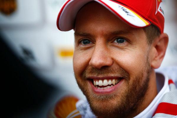 Shanghai International Circuit, Shanghai, China.  Friday 07 April 2017. Sebastian Vettel, Ferrari. World Copyright: Andy Hone/LAT Images ref: Digital Image _ONZ4268