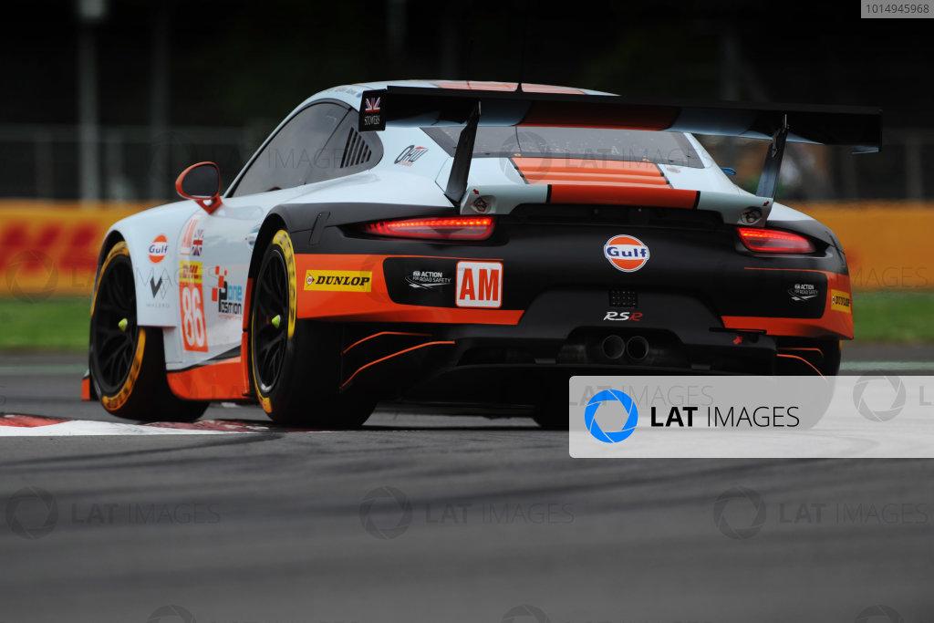 2017 World Endurance Championship, Mexico City, Mexico. 1st-3rd September 2017, #86 Gulf Racing Porsche 911 RSR (991): Michael Wainwright, Ben Barker, Nicholas Foster  World copyright. JEP/LAT Images