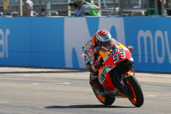 2017 MotoGP Championship - Round 14 Aragon, Spain. Sunday 24 September 2017 Marc Marquez, Repsol Honda Team World Copyright: Gold and Goose / LAT Images ref: Digital Image 695027
