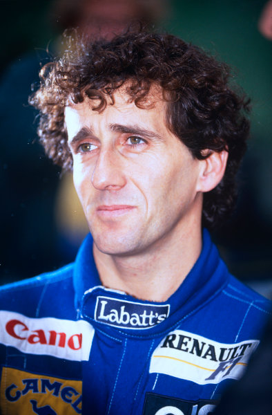 Adelaide, Australia.5-7 November 1993.Alain Prost (Williams Renault) 2nd position in his last Grand Prix and Drivers World Champion for the fourth time, portrait.World Copyright: LAT Photographic.Ref:  Colour Transparency.