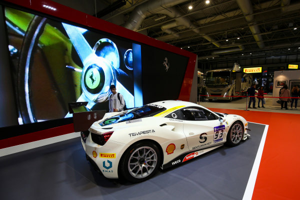 Autosport International Exhibition. National Exhibition Centre, Birmingham, UK. Sunday 14th January 2018. A Ferrari 488 on the Ferrari stand.World Copyright: Mike Hoyer/JEP/LAT Images Ref: AQ2Y0156