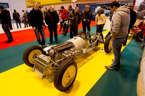 Autosport International Exhibition.  National Exhibition Centre, Birmingham, UK. Saturday 16 January 2016.  The Classic Team Lotus stand. World Copyright: Mike Hoyer/LAT Photographic. ref: Digital Image 4ED28129