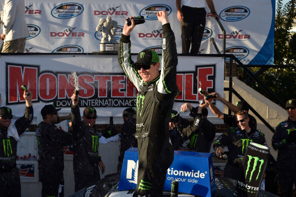 25-27 September, 2014, Dover, Delaware USA Kyle Busch, Monster Energy Toyota Camry celebrates the win in victory lane ?2014, Scott R LePage  LAT Photo USA