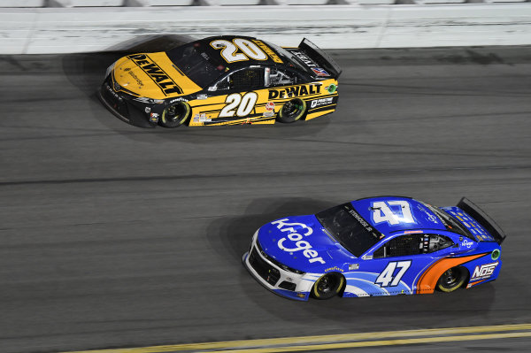 #20: Christopher Bell, Joe Gibbs Racing, Toyota Camry DEWALT #47: Ricky Stenhouse Jr., JTG Daugherty Racing, Chevrolet Camaro Kroger/NOS Energy Drink