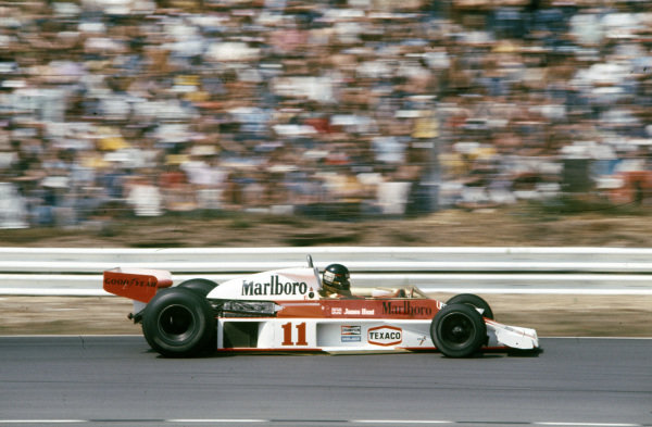 James Hunt, McLaren M23 Ford.