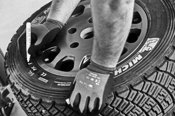 Michelin tyre is marked at World Rally Championship, Rd3, Rally Mexico, Preparations, Leon, Mexico, 8 March 2017.