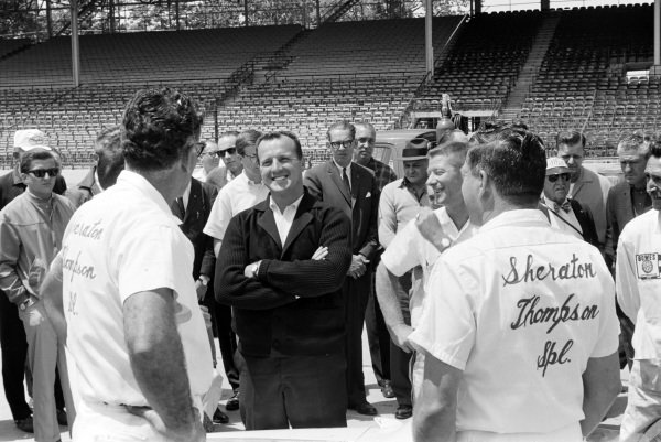 A. J. Foyt with his mehcanics.