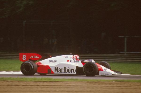 Monza, Italy.7-9 September 1984.Niki Lauda (McLaren MP4\2 TAG Porsche) 1st position.Ref-84 ITA 02.World Copyright - LAT Photographic