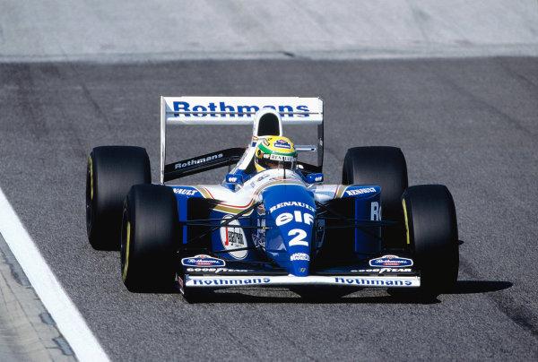 1994 San Marino Grand Prix.Imola, Italy. 29/4-1/5 1994.Ayrton Senna (Williams FW16 Renault).Ref-94 SM 61.World Copyright - LAT Photographic