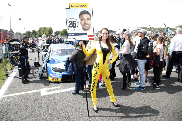 Grid girl of Philipp Eng, BMW Team RBM.