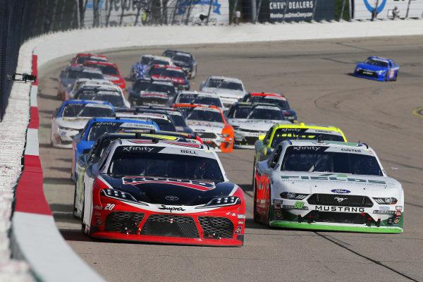 #20: Christopher Bell, Joe Gibbs Racing, Toyota Supra Ruud and #00: Cole Custer, Stewart-Haas Racing, Ford Mustang FIELDS