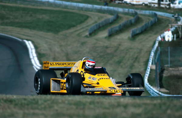 1978 United States Grand Prix East.Watkins Glen, New York, USA.29/9-1/10 1978.Michael Bleekemolen (ATS HS1 Ford). He retired on his Grand Prix debut due to a leaking oil pump gasket.World Copyright - LAT Photographic