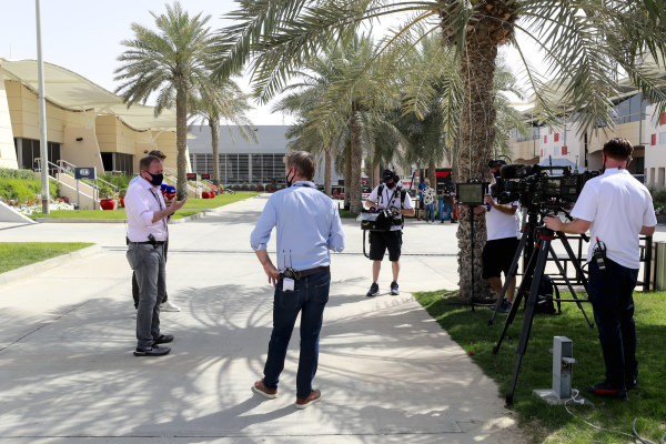 Simon Lazenby, Sky TV, Martin Brundle, Sky TV and Jenson Button, Sky TV