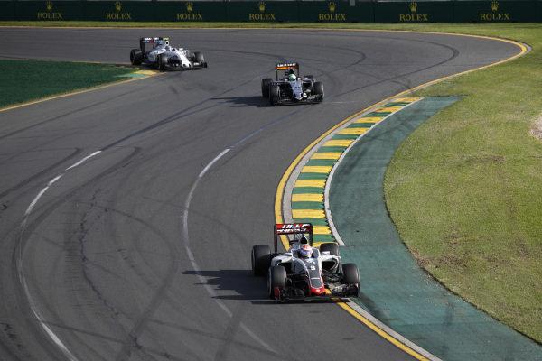 Romain Grosjean (FRA) Haas VF-16 at Formula One World Championship, Rd1, Australian Grand Prix, Race, Albert Park, Melbourne, Australia, Sunday 20 March 2016.