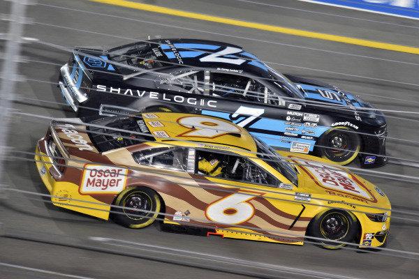 #7: Corey LaJoie, Spire Motorsports, Chevrolet Camaro Shavelogic and #6: Ryan Newman, Roush Fenway Racing, Ford Mustang Oscar Mayer Bacon