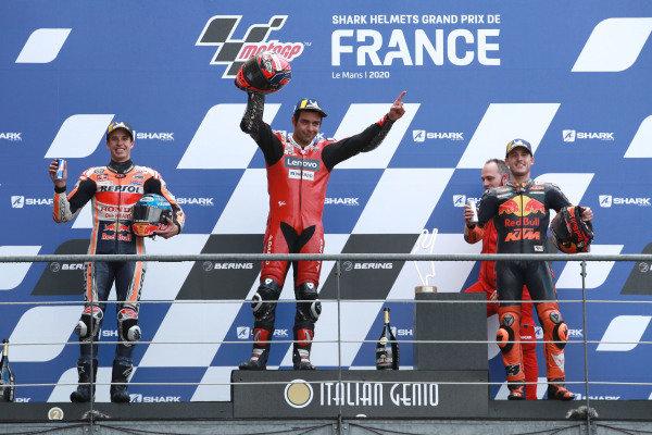 Alex Marquez, Repsol Honda Team, Danilo Petrucci, Ducati Team, Pol Espargaro, Red Bull KTM Factory Racing.
