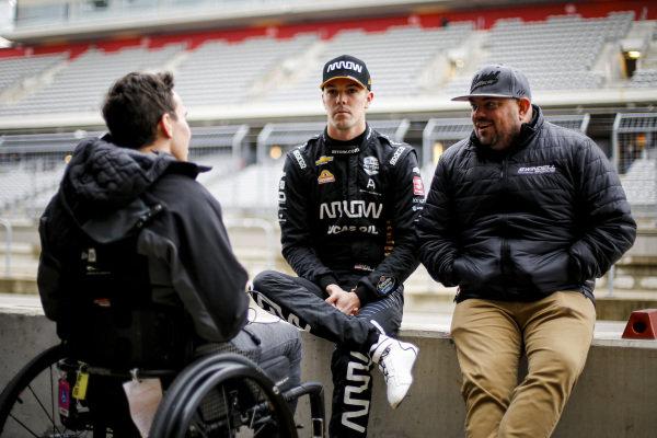 Oliver Askew, Arrow McLaren SP Honda and Robert Wickens