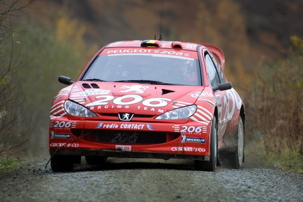 2001 FIA World Rally Championship.Rally Of Great Britain. Cardiff, Wales. November 22-25th.G De Mavius, Peugeot 206 WRCStage Five.Photo: Paul Dowker/LAT Photographic.World - LAT Photographic.8 9mb DIgital File Only
