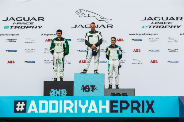 The PRO class podium: winner Simon Evans (NZL), Team Asia New Zealand, 2nd position Sérgio Jimenez (BRA), Jaguar Brazil Racing and 3rd position Bryan Sellers (USA), Rahal Letterman Lanigan Racing