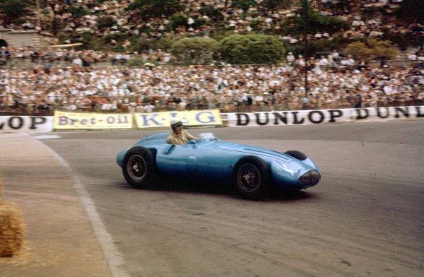 1956 Monaco Grand Prix.Monte Carlo, Monaco.10-13 May 1956.Andre Pilette (Gordini T32) 6th position shared with Elie Bayol.Ref-56 MON 09.World Copyright - LAT Photographic