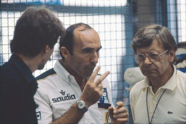 Hockenheim, Germany. 8 August 1982.Frank Williams in converstaion, portrait. World Copyright: LAT PhotographicRef: 82GER