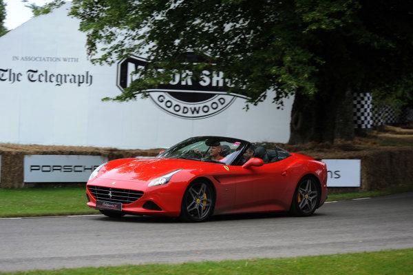2016 Goodwood Festival of Speed Goodwood Estate, West Sussex,England 23rd - 26th June 2016 Moving Motor Show Ferrari Califournia World Copyright : Jeff Bloxham/LAT Photographic Ref : Digital Image