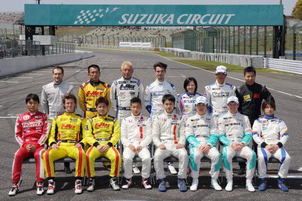2015 Japanese Formula 3 Championship. Suzuka, Japan. 18th - 19th April 2015. Rd 1 & 2. 2015 Japanese Formula 3 drivers portrait World Copyright: Yasushi Ishihara/LAT Photographic. Ref: 2015JF3_Rd1&2_014