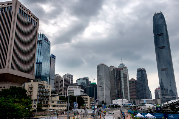 2016/2017 FIA Formula E Championship. Hong Kong ePrix, Hong Kong, China. Saturday 8 October 2016. Adam Carroll (GBR), Jaguar Racing, Spark-Jaguar, Jaguar I-Type 1.  Photo: Zak Mauger/LAT/Formula E ref: Digital Image _X0W1704