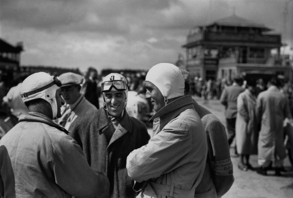 Nurburgring, Germany. 25 July 1937.Tazio Nuvolari (Alfa Romeo 12C), 4th position, portrait.World Copyright: Robert Fellowes/LAT PhotographicRef: RF37_GER_08