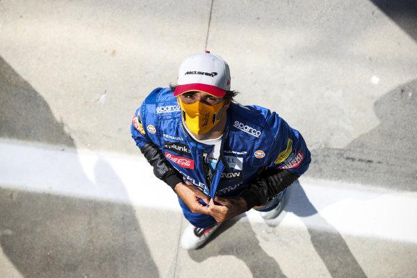 Carlos Sainz, McLaren in Parc Ferme