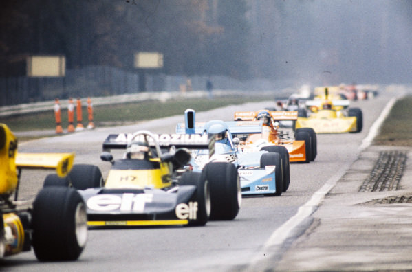 Jacques Laffite, Martini Mk16 BMW/Schnitzer, leads Gabriele Serblin, March 752 BMW, and Hans-Joachim Stuck, March 752 BMW/Rosche.