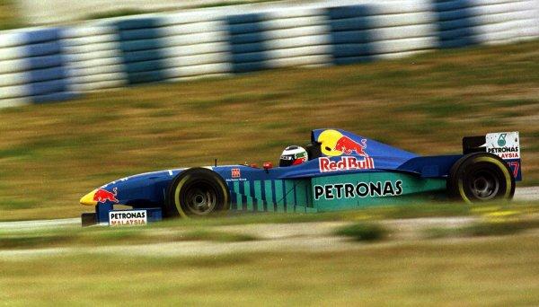 1997 Spanish Grand Prix.Catalunya, Barcelona, Spain.23-25 May 1997.Gianni Morbidelli (Sauber C16 Petronas Ferrari) 14th position.World Copyright - Tee/LAT Photographic