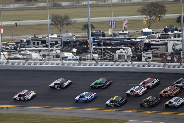 #20: Harrison Burton, Joe Gibbs Racing, Toyota Supra Dex Imaging, #66: Timmy Hill, Motorsports Business Management, Ford Mustang VSI Racing / RoofClaim.com
