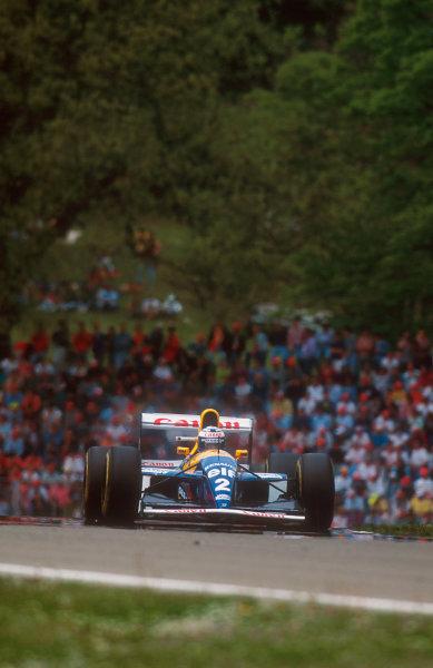 1993 San Marino Grand Prix.Imola, Italy.23-25 April 1993.Alain Prost (Williams FW15C Renault) 1st position.Ref-93 SM 01.World Copyright - LAT Photographic