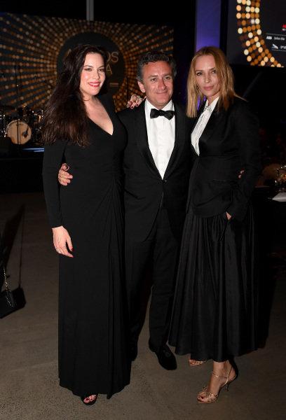 Liv Tyler, Alejandro Agag and Uma Thurman attend the Awards Gala