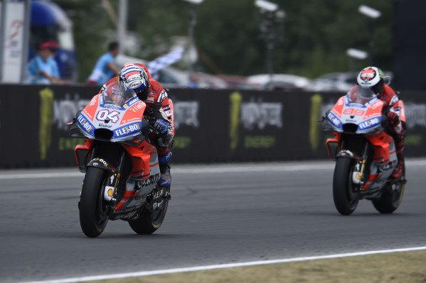 Andrea Dovizioso, Ducati Team, wins.