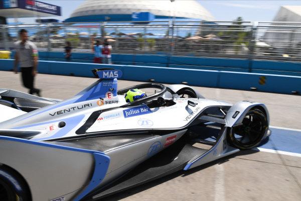 Felipe Massa (BRA), Venturi Formula E, Venturi VFE05, drives out of the garage.