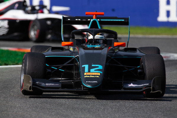 AUTODROMO NAZIONALE MONZA, ITALY - SEPTEMBER 07: Keyvan Andres (IRN, HWA RACELAB) during the Monza at Autodromo Nazionale Monza on September 07, 2019 in Autodromo Nazionale Monza, Italy. (Photo by Joe Portlock / LAT Images / FIA F3 Championship)
